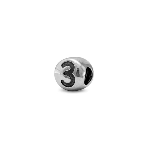 "Oxidized Number ""3"" Bead"