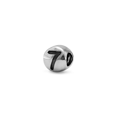 "Oxidized Number ""7"" Bead"