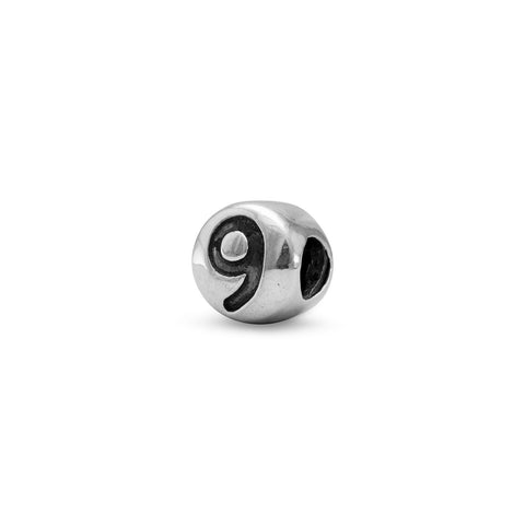 "Oxidized Number ""9"" Bead"