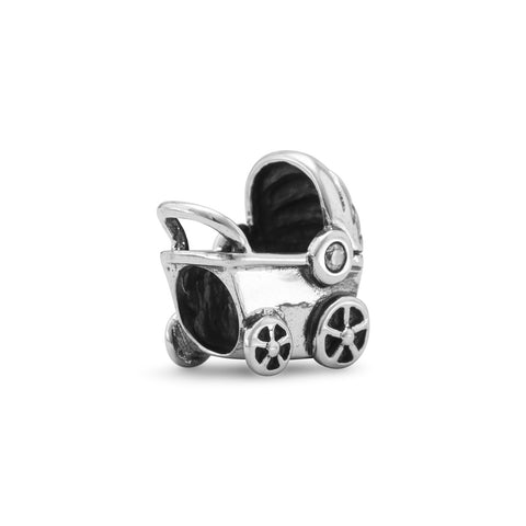 Oxidized Baby Carriage Bead