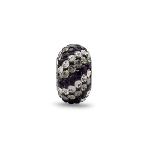 Black, Grey and Clear Crystal Bead