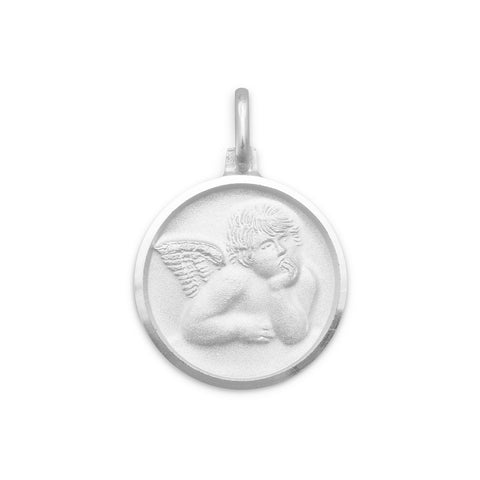 Satin Finish Raphael Angel Pendant