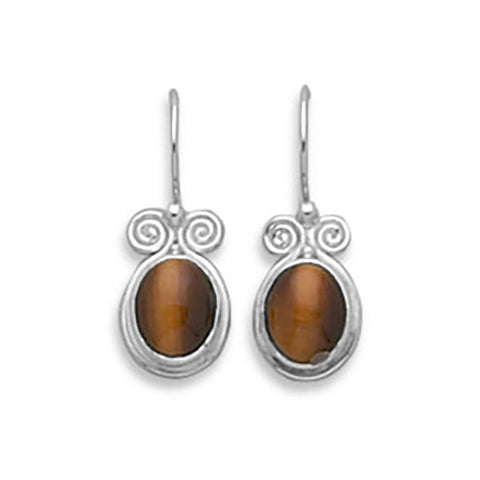 Tiger's Eye Earrings on French Wire