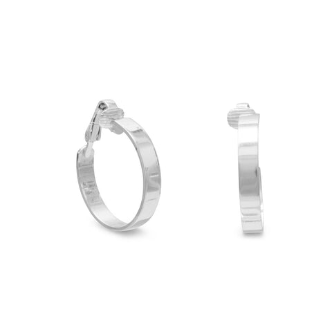 4.5mm Flat Hoop Clip-On Earrings