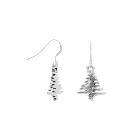 Zig Zag ChristmasTree Earrings