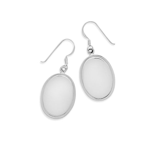 Polished Engravable Earrings on French Wire