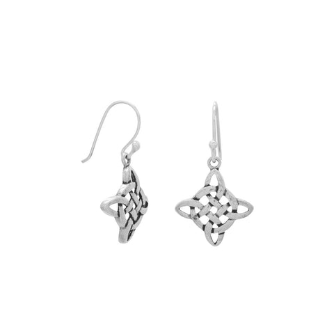 Diamond Shape Celtic Earrings