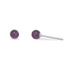 4mm Amethyst Stud Earrings