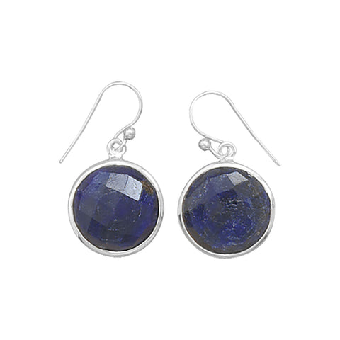Round Faceted Corundum Earrings
