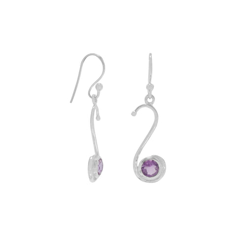 S Design Amethyst Earrings