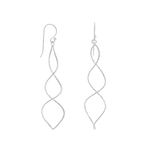 Thin Twist Wire Earrings