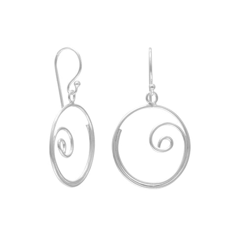 Thin Swirl Design Earrings