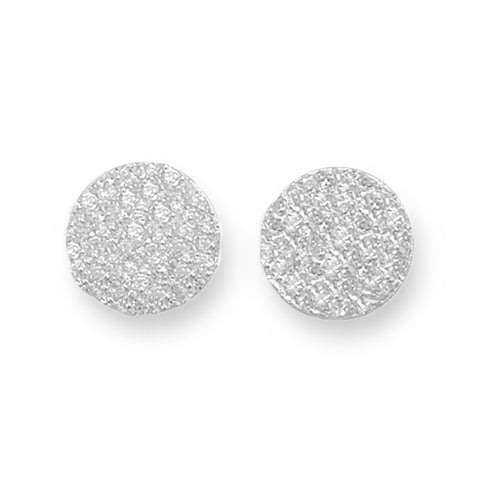 CZ 1/2 Ball Post Earrings