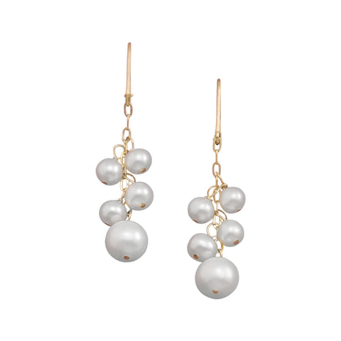 14/20 Gold Filled Cultured Freshwater Pearl Drop Earrings