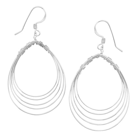 Pear Shape Wire Earrings
