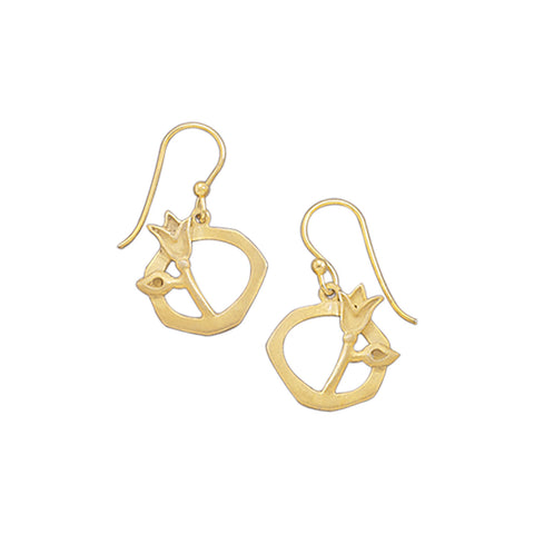 14 Karat Gold Plated Tulip Design Earrings