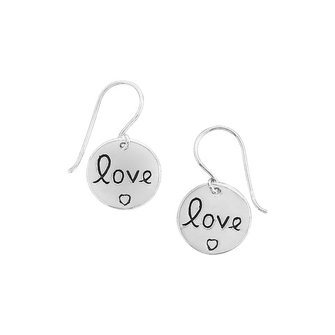 "Round ""Love"" Earrings"