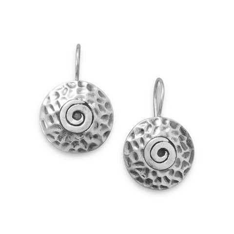 Textured Swirl Pattern Earrings