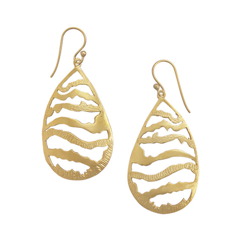 14 Karat Gold Plated Pear Shape Earrings