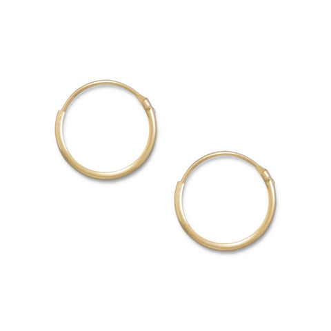 12/20 Gold Filled 1mm x 13mm Hoops