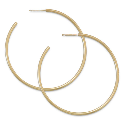 14/20 Gold Filled 1.5mm x 49mm 3/4 Hoops