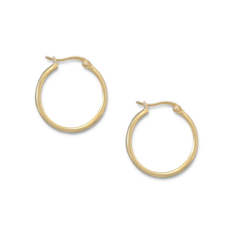 14 Karat Gold Plated 1.5mm x 20mm Hoops