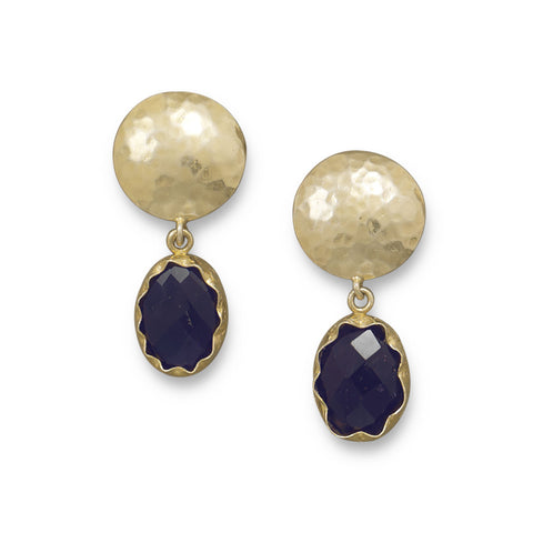 14 Karat Gold Plated Amethyst Clip-On Earrings