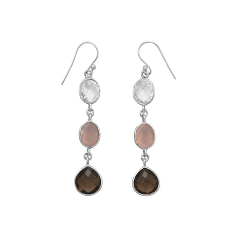 Multistone Drop Earrings
