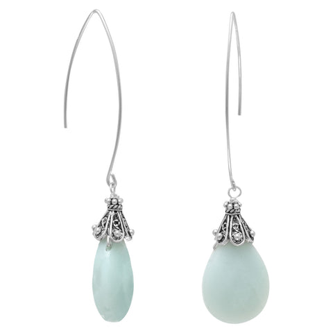 Baila Luna Mint Drop Earrings