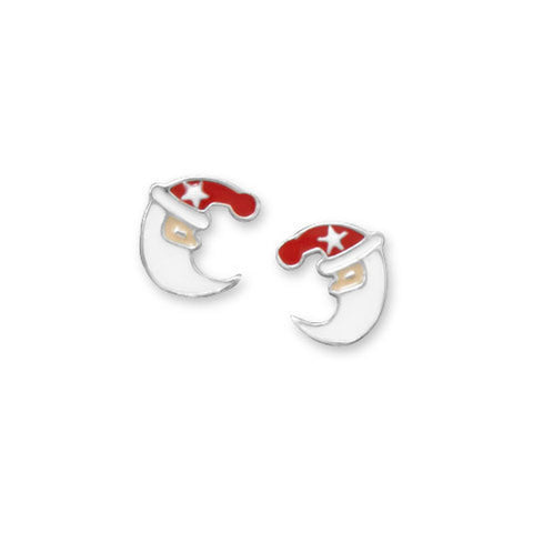Red and White Santa Stud Earrings