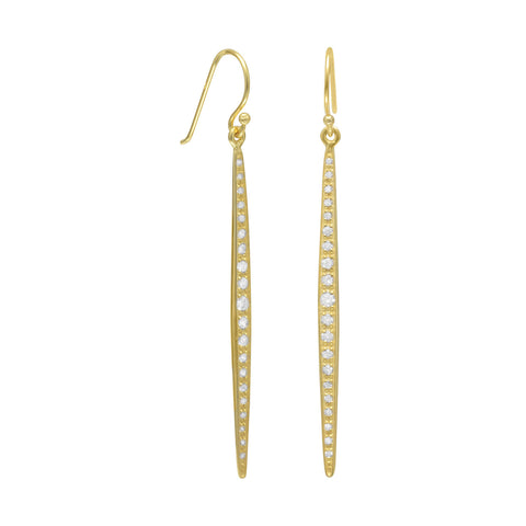 14 Karat Gold Plated Stick French Wire Earrings