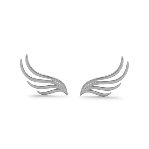 Rhodium Plated Wing Studs