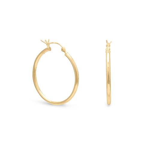 2mm x 28mm Gold Plated Click Hoop