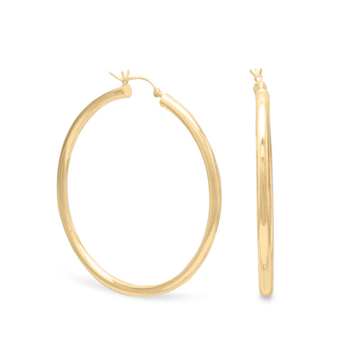 3mm x 40mm Gold Plated Click Hoop