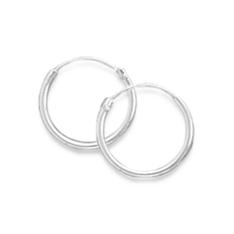 12mm Endless Hoop Earrings