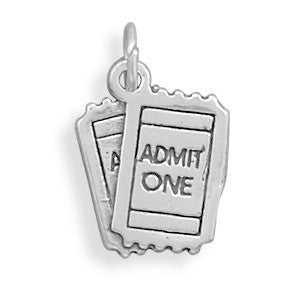 ADMIT ONE Movie Tickets Charm