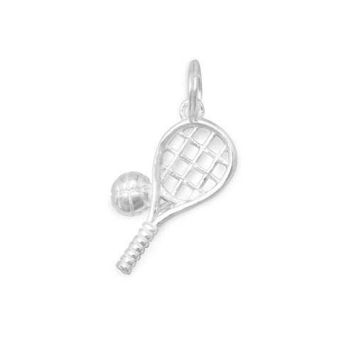 Polished Tennis Racket/Ball Charm