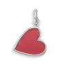 Hot Pink Enamel Heart Charm