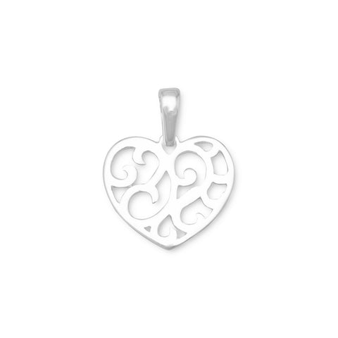 Cut Out Heart Design Pendant