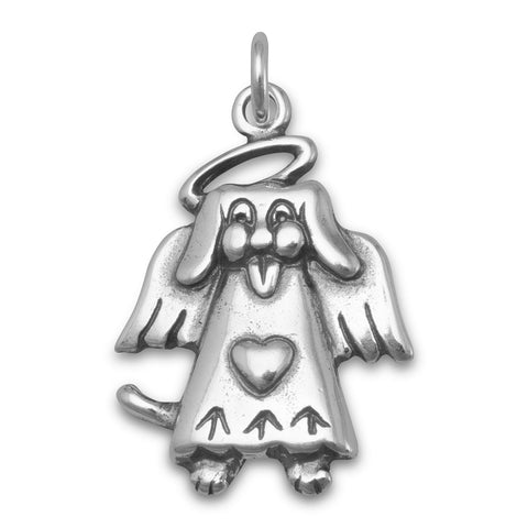 Dog Angel Charm