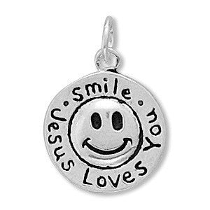 Smile Jesus Loves You Charm