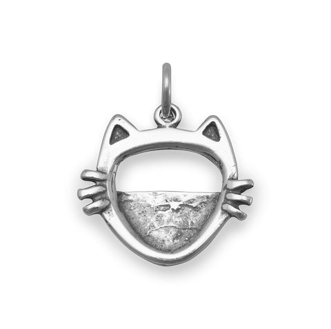 Cat Face Picture Frame Charm