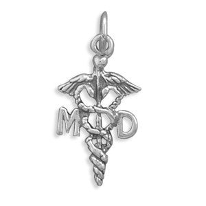 Medical Doctor Caduceus Charm