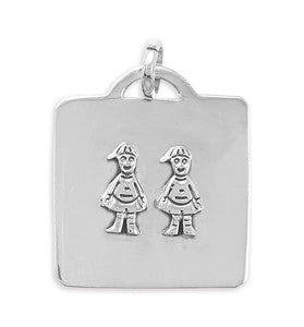 Pendant with Two Boys