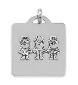 Pendant with Three Girls