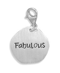 Fabulous Reversible Lobster Clasp Charm