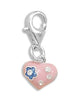 Epoxy Heart Charm with Lobster Clasp