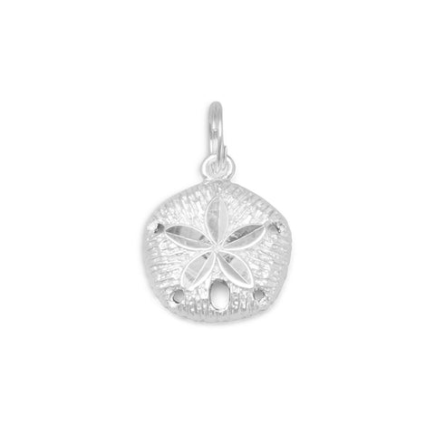 Diamond Cut Sand Dollar Charm