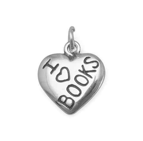 I Love BOOKS Charm