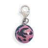 Pink and Black Enamel Bead Charm
